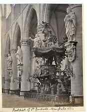 Belgique, Sainte Gudule, Bruxelle vintage albumen print  Tirage albuminé  18