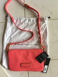 NWT Marc Jacobs Too Hot to Handle Crossbody Bright Coral Leather $248