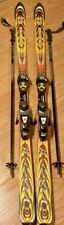 Rossignol Mountain Viper Cut 9.9 Skis FRANCE Salomon Bindings W/ Smith Ski Poles