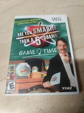 Are You Smarter Than A 5th Grader? Game Time Nintendo Wii