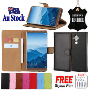 Genuine Leather Card Wallet Case Flip Cover For Huawei Mate 20 Pro 9 10 Case