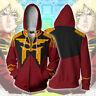 Hot Anime GUNDAM Cosplay Hoodie Hooded Sweatshirt Unisex Jacket Zipper Coat Tops
