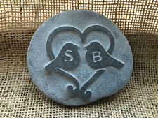 Hand made LOVE birds Pebble, Personalised initials perfect for a wedding gift