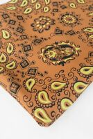 """1940s Silky Rayon Print Fabric Whimsical Paisley Design 49"""" x 42"""""""