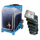 Zuca ICE DREAMZ LUX Sport Insert Bag with Blue Frame and Packing Pouch Set