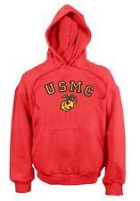 USMC US Marines RED HOODED Army PULLOVER Kapuzen SWEATSHIRT Hoody Medium