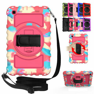 For Samsung Galaxy Tab A 8.0 2019 SM-T290 Rotating Stand Hard Rubber Case Cover