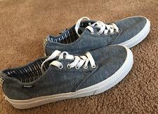 Women VANS Blue Jean Look Textile Athletic Leisure Shoes. 7.5