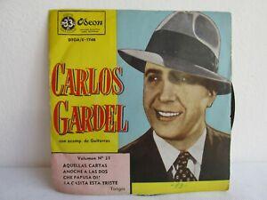 CARLOS GARDEL VINYL RECORDS 33 RPM TANGO ARGENTINA !VERY GOOD!