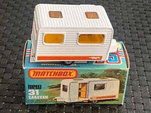 Matchbox (Lesney) SF CARAVAN #31 Camper Trailer 1977 NEW in Orig. Box - VINTAGE
