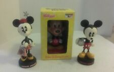 lot of vintage disney mickey and minni mouse bobble heads