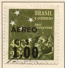 Brazil 1944 Early Issue Fine Used 1Cr. Surcharged NW-17193