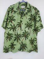 Men's XL Hawaiian Aloha Shirt by Bishop Street Apparel Made in Hawaii USA Grren