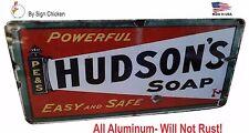 vintage replica, HUDSON'S SOAP, Bathroom or laundry room sign, man cave, garage