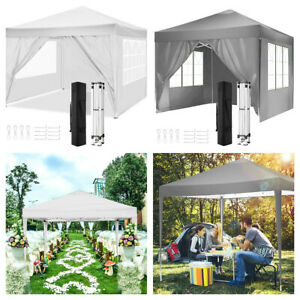 Outdoor Gazebos 3x3m Heavy Duty Pop Up Gazebo Marquee Canopy Garden Tent 4 Sides