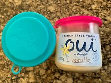 Plastic Lids For Oui Yogurt Set of 4, whisker city small can food lid NEW