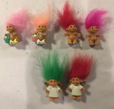 Lot of 6 Russ Troll Dolls - 1 inch - Angels, Easter and Naked Trolls
