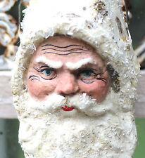 Christbaumschmuck SANTA CLAUS Weihnachtsmann Nikolaus Dresdner Pappe um1910 #3