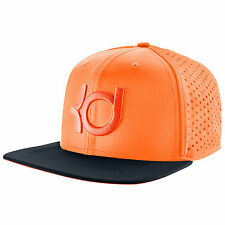 NIKE KD Performance Perforated Snapback Cap Adult Bright Citrus Charcoal Dri-FIT