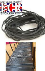 20 NEW GREY BLACK ELASTIC BANDS FOR G SCALE FLATBED RAILWAY TRAIN TRUCK