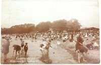 .1907 GERMAN REAL PHOTO POSTCARD. KINDERSPIELPLATZ CHILDRENS PLAYGROUND.
