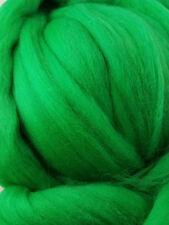 Merino Wool Top Roving Kelly Green 1 oz