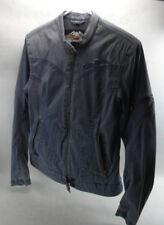 Harley Davidson Blue Light Jacket Coat Womens Size Small Polyester Cotton (HS)