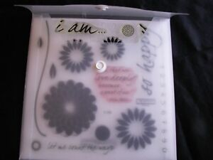 My Acrylix Spring D1368 Close to my Heart Clear Stamps Flowers I am so happy