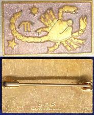 Spilla Badge Segno Zodiaco Zodiac Scorpione Scorpion #KP392