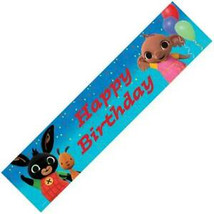 Bing Flop Happy Birthday Hanging Banner Bunting Party Decoration Partyware