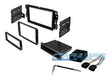 CAR STEREO SINGLE OR DOUBLE 2 DIN RADIO DASH INSTALLATION KIT W CHIME INTERFACE