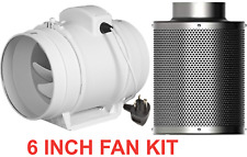 150mm 6 inch mixed flow inline fan filter kit 2 speed for hydroponic grow tent