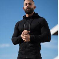 Gym Fashion Men's Hooded Sweatshirt Fitness Camo Hoodies Zipper Clothes