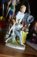 Bisque Porcelain Leapfrog Boys Capodimonte Style N Crown marked rare figurine