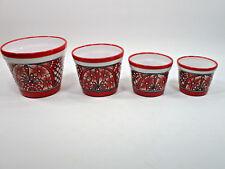 4 PLANTERS colorful mexican   wholesale lot   talavera pot set