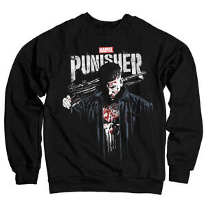 Officially Licensed Marvel's The Punisher Blood Sweatshirt S-XXL Sizes (Black)