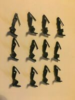 12 Mantua Tyco HO Scale Hook Horn Couplers -Used -Train Car Replacement Part