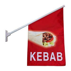 Kebab Flag Kit / Wall Mounted Kebab Advertising Sign Flag Kit - Ship Today!