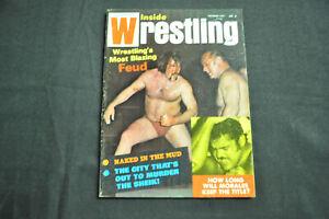 INSIDE WRESTLING MAGAZINE - OCTOBER 1971 - PEDRO MORALES COVER! (F-VF)