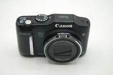 "Canon PowerShot SX160 IS 16MP 16x Optical Zoom 3"" LCD Digital Camera Black"