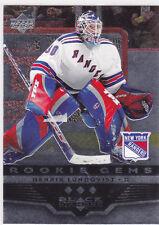 2005 05-06 Black Diamond #156 Henrik Lundqvist RC rookie gems New York Rangers