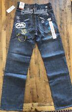 Ecko Unltd Baggy Fit Embroidered Jeans Denim Men's Size 30 (30 x 33) Golden Wave