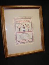 Vintage Framed Homco Home Interiors Sampler Sampler Abc Mother Print Picture