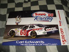 2009 CARL EDWARDS SAVE A LOT W/ COUPON NASCAR POSTCARD
