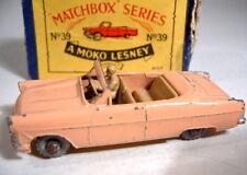 Matchbox RW 39A Ford Zodiac peach rare braune Einrichtung mit Box