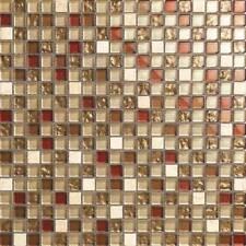 Mosaico Piastrelle Color Crema Bianco, Rosso, ORO, ARGENTO PIETRA VETRO MIX DOCCIA mt0065