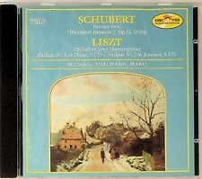 Schubert: Fantasy In C, Liszt: 3 Song Transcriptions CD -Michael Thalmann, Piano