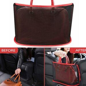 Red Advanced Car Net Pocket Handbag Holder Organizer Seat Side Storage Mesh Net