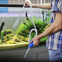 Water Change Pump Aquarium Vacuum Siphon Fish Tank Drainer Gravel Cleaner Pipe
