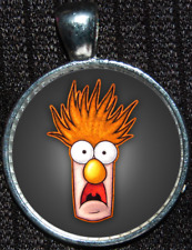 Muppets Dr Honeydew Meep Beaker Silver Stained Jewelry Necklace Pendant Disney